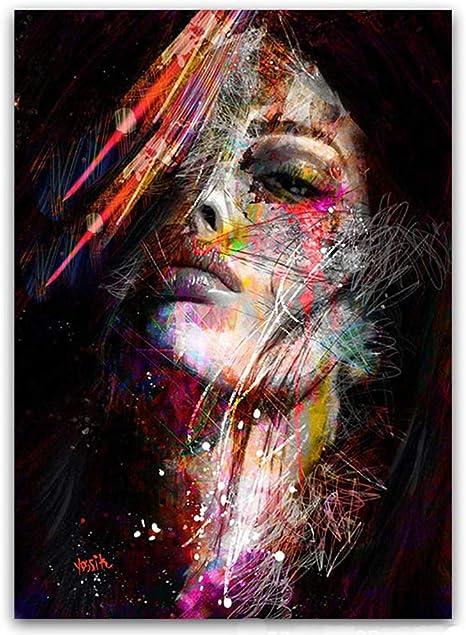 Peinture Sur Toile Graffiti Art Pop Art Femme Africaine
