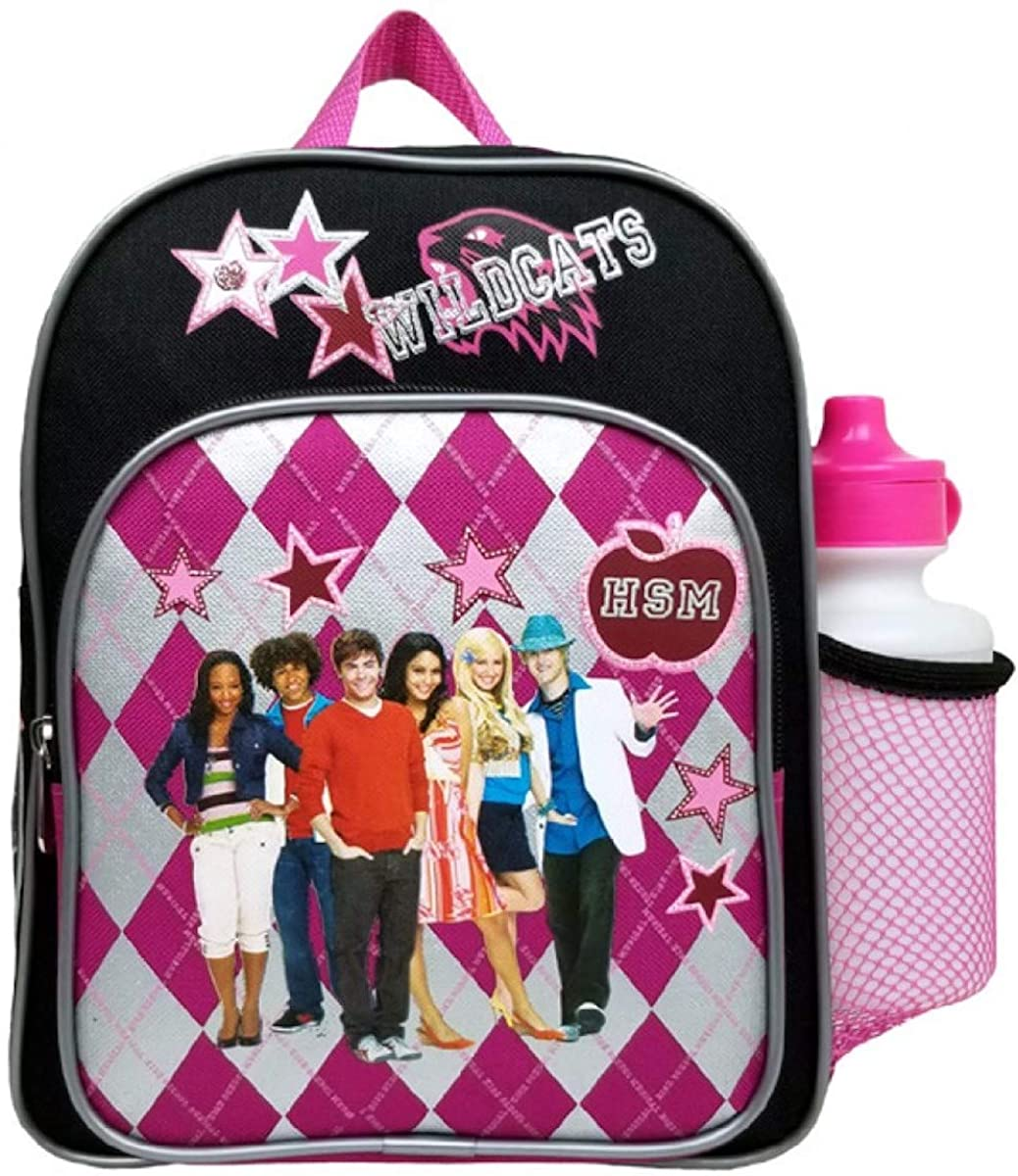 Disney High School Musical Plaid Mini Backpack with Water Bottle #56856