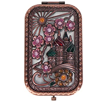 Amazon.com: Ivenf Rose Golden Castle & Flower Square ...