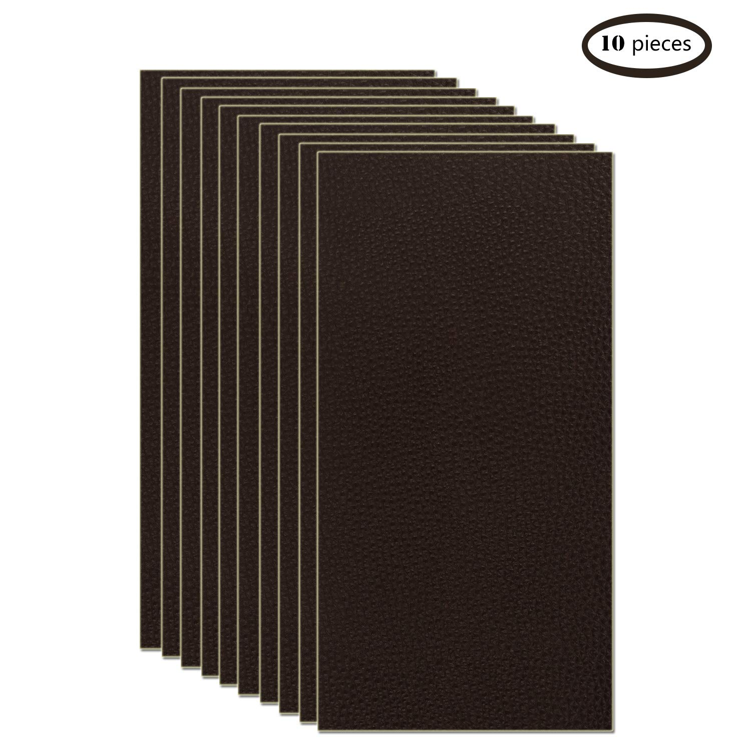 10 Pieces Leather Patches Leather Repair Kit for Couch Furniture Sofas Car Seats Handbags Jackets (Dark Brown) by Bonaier