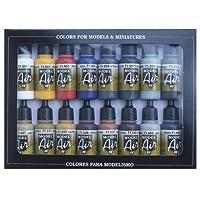 Vallejo Model Air Set de couleurs de peinture acrylique pour air brush–Couleurs assorties (Lot de 16)