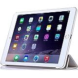 Apple iPad Air 2 ケース,【選べる5色】【JPIVSO®】オリジナルApple iPad Air 2 専用カバー スマートケース 超薄型 最軽量 -Apple iPad Air 2 専用ケース (Apple iPad Air 2 (2014), ホワイト)