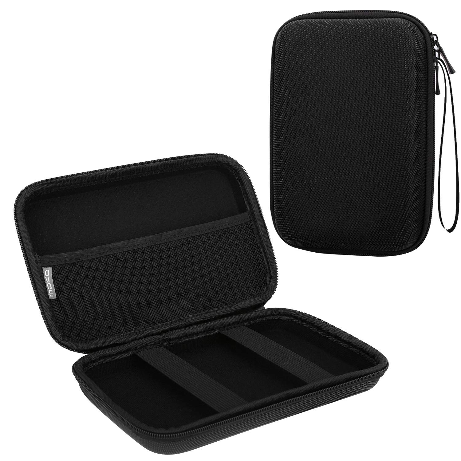 MoKo 7-Inch GPS Carrying Case, Portable Hard Shell Protective Pouch Storage Bag for Car GPS Navigator Garmin/Tomtom / Magellan with 7'' Display - Black