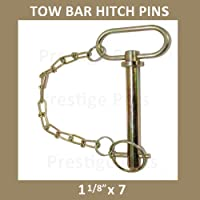 Galvanised Finish Suitable for Ifor Williams /& Many Other Trailers Welded Chain Links 1 x 10mm Cotter Pin /& 190mm Chain