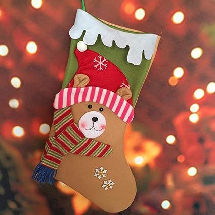 Uomere – grandes botas de calcetines de Navidad bolsas de regalo calcetines de Papá Noel Muñeco