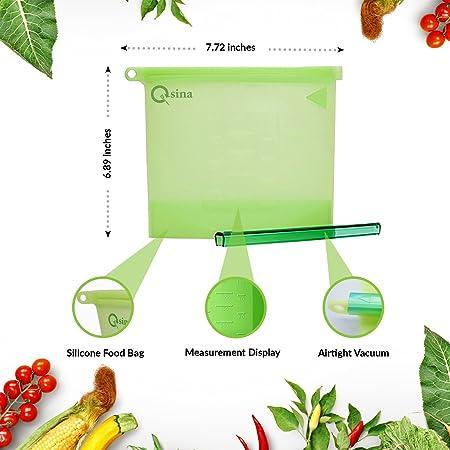 Bolsa de silicona reutilizable para alimentos, bolsas de ...