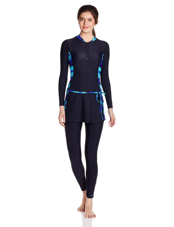 e1db0501453 Speedo Female Swimwear 2 Piece Full Body Suit  Amazon.in  Clothing    Accessories