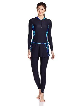 9e2ed569896 Speedo Female Swimwear 2 Piece Full Body Suit  Amazon.in  Clothing ...