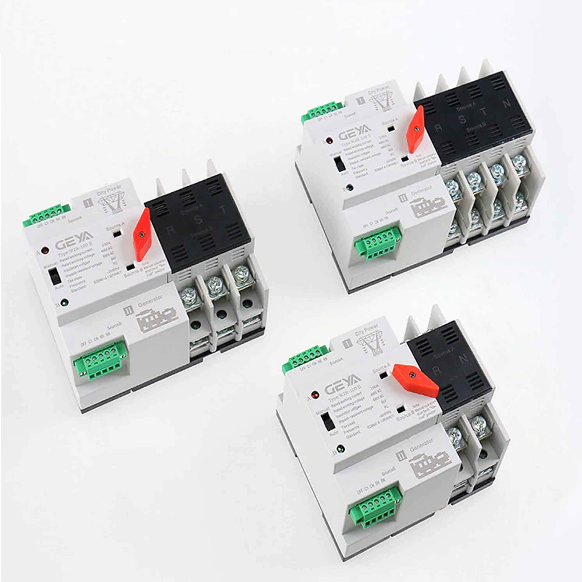 GAEYAELE W2R Mini ATS 4P Automatic Transfer Switch Controller Electrical Type ATS Max 100A 4POLE (W2R-4P 100A) by GAEYAELE (Image #7)