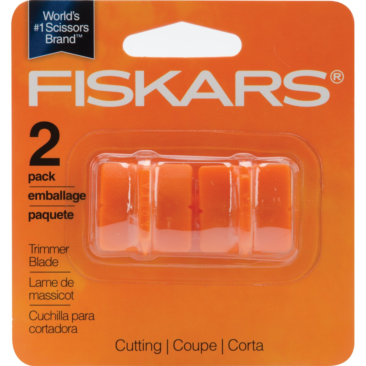 Fiskars Paper Trimmer Replacement Blades 2//Pkg-Straight Style G