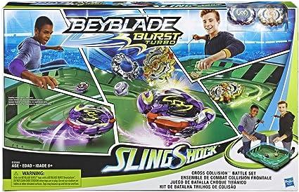 Beyblade Burst slingshock Cross Collision Battle set arena Hasbro e5565eu4