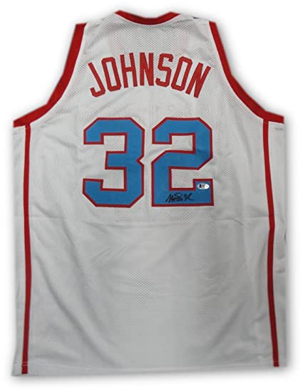 new style d28ec e7416 Magic Johnson Hand Signed Autographed Vikings Jersey LA ...