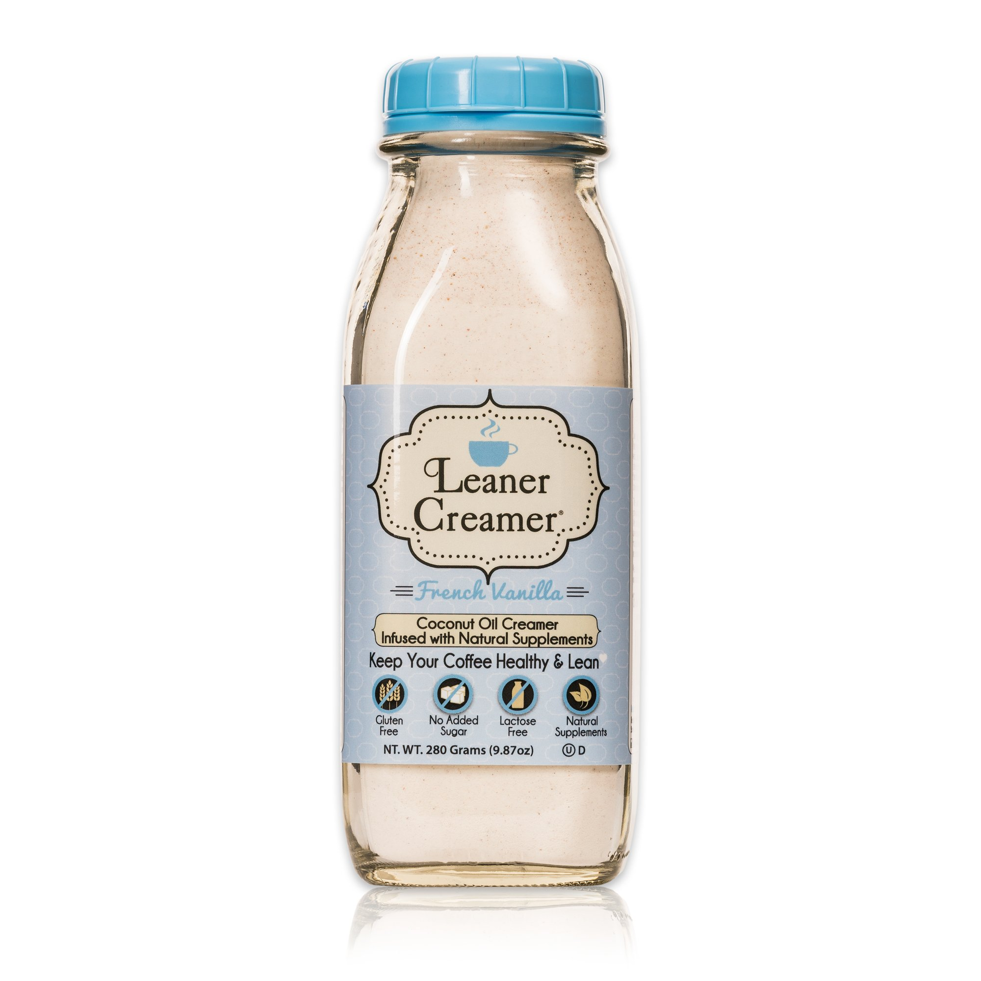 Leaner Creamer: The Lactose-Free All Natural Coffee Creamer Powder- A Healthy Complement for Coffee and Tea- May Promote Weight Loss and Suppress Appetite- French Vanilla - 280Gr by Leaner Creamer