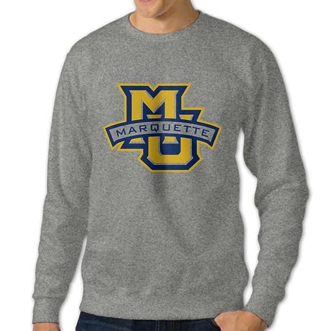 bekey hombre Marquette MU Logo Universidad sudadera con capucha chaqueta de fresno - Gris - L: Amazon.es: Ropa y accesorios