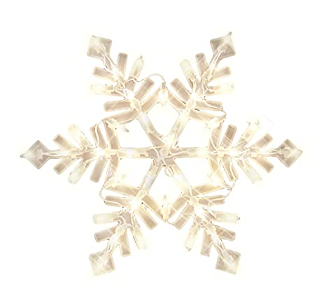 impact innovations christmas lighted window decoration snowflake 94999d
