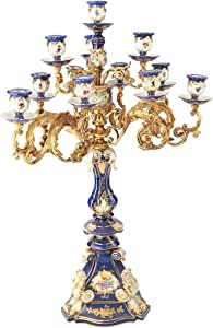 Porcelain Candle Stand, Blue