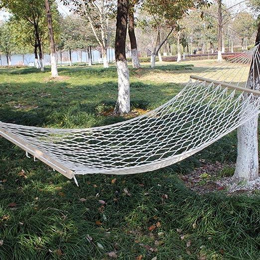 JULYKAI Hamacas Colgantes de Cama para Dormir, jardín al Aire Libre Hamaca portátil de Malla Hamaca Colgante Decoración para Viajes de Camping Malla portátil Hamaca Columpio de Viaje al Aire Libre: Amazon.es: