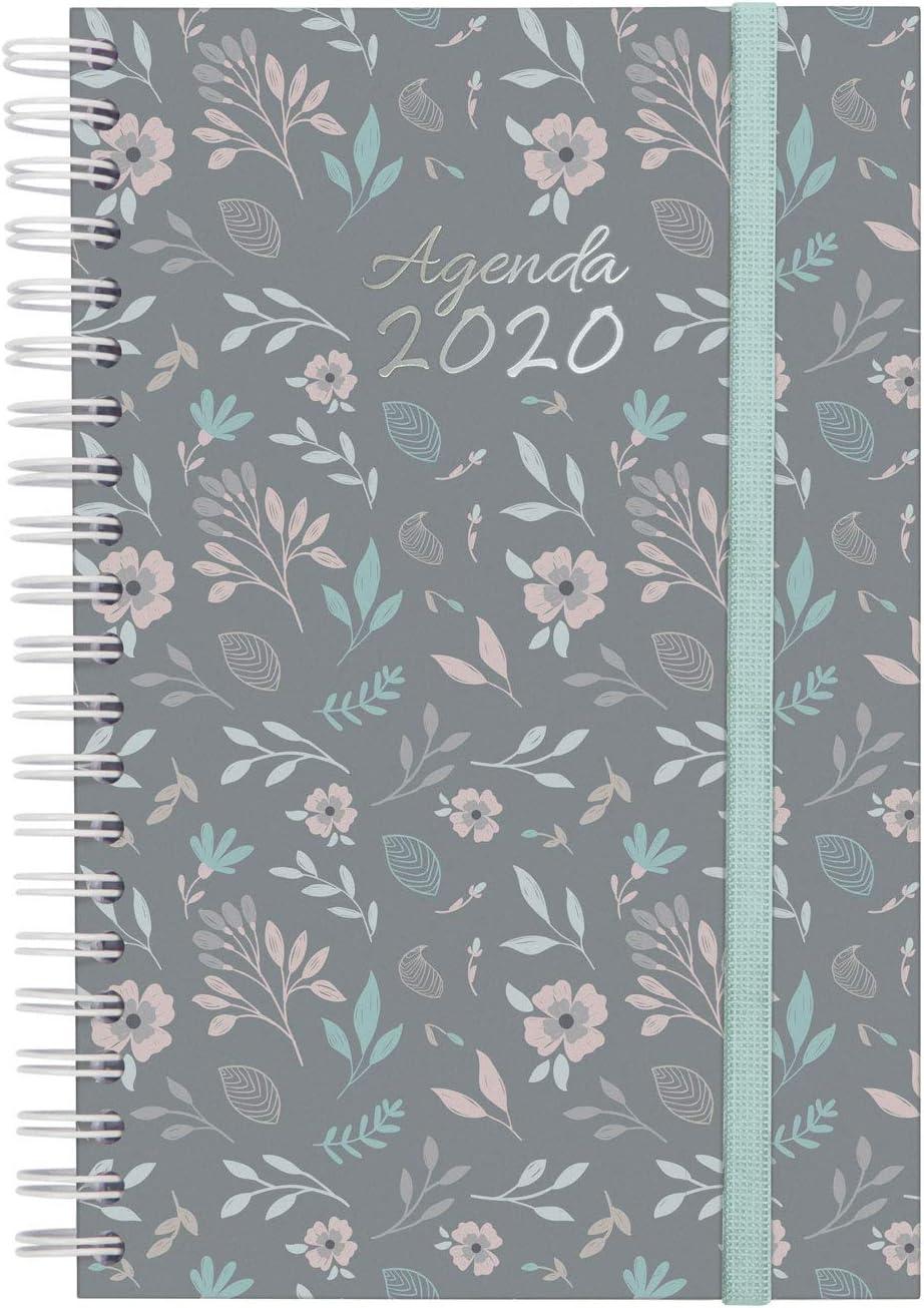 Finocam Espiral You Floral, Agenda 2020, Mediano - E5 - 117 x 181 mm, 1 pieza