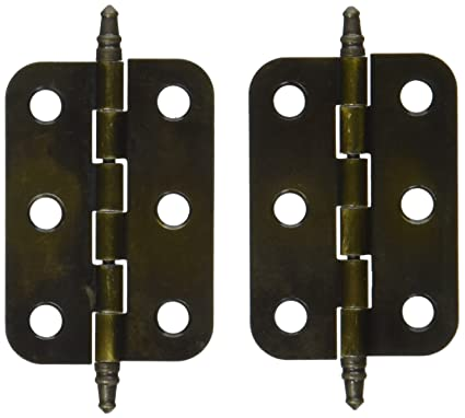 Non Self-Closing Butt Antique Brass Hinge - 2 Pack - Non Self-Closing Butt Antique Brass Hinge - 2 Pack - Cabinet And