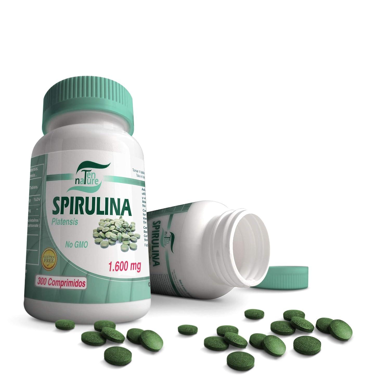 Espirulina orgánica 400mg | 300 comprimidos | 1600mg/día | Microalga Spirulina Platensis | Calidad Premium | Sin gluten | 100% Natural NO GMO | ...