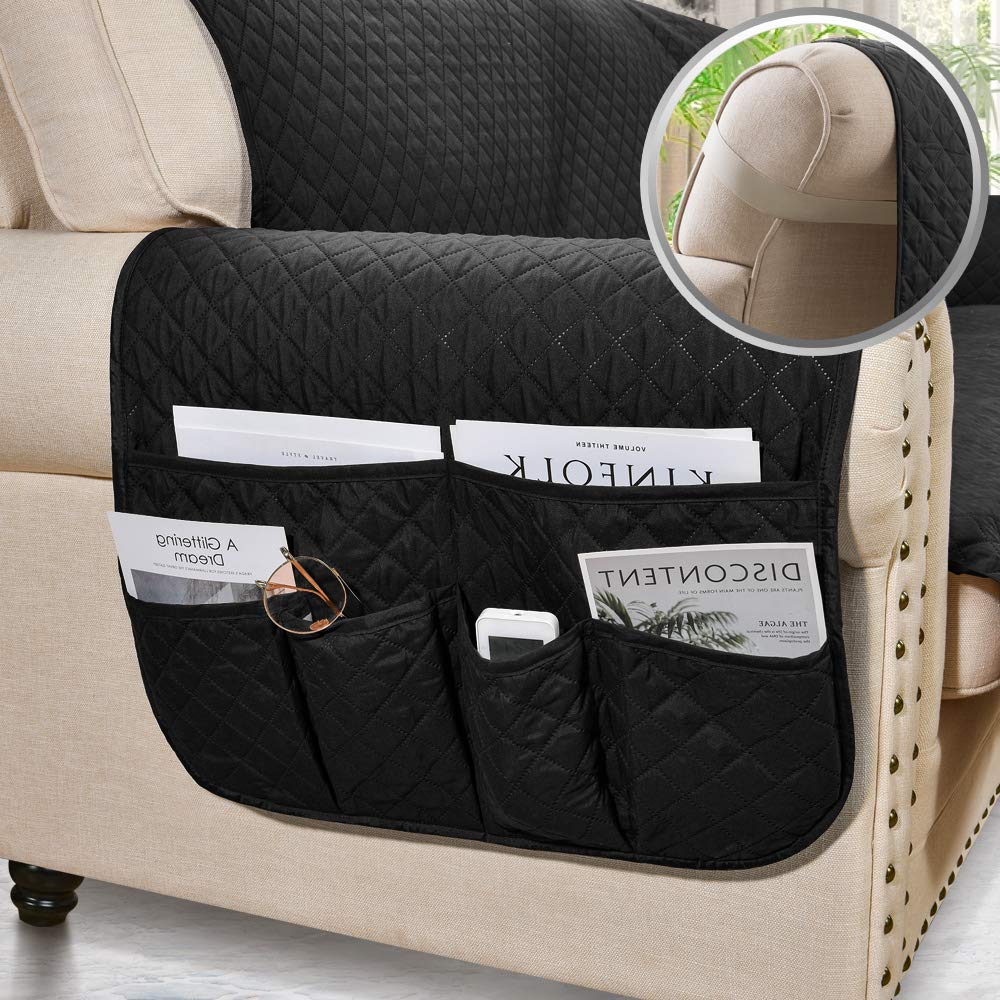 ASHLEYRIVER Reversible Recliner Chair Cover Sofa Covers for Dogs,Sofa Slipcover,Couch Covers for 3 Cushion Couch,Couch Protector Recliner Oversize:Chocolate//Beige