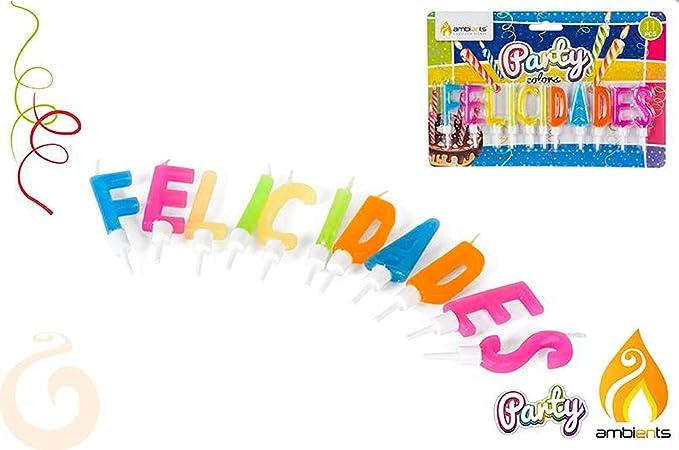 DISOK Blister Velas FELICIDADES - Velas Feliz Cumpleaños ...