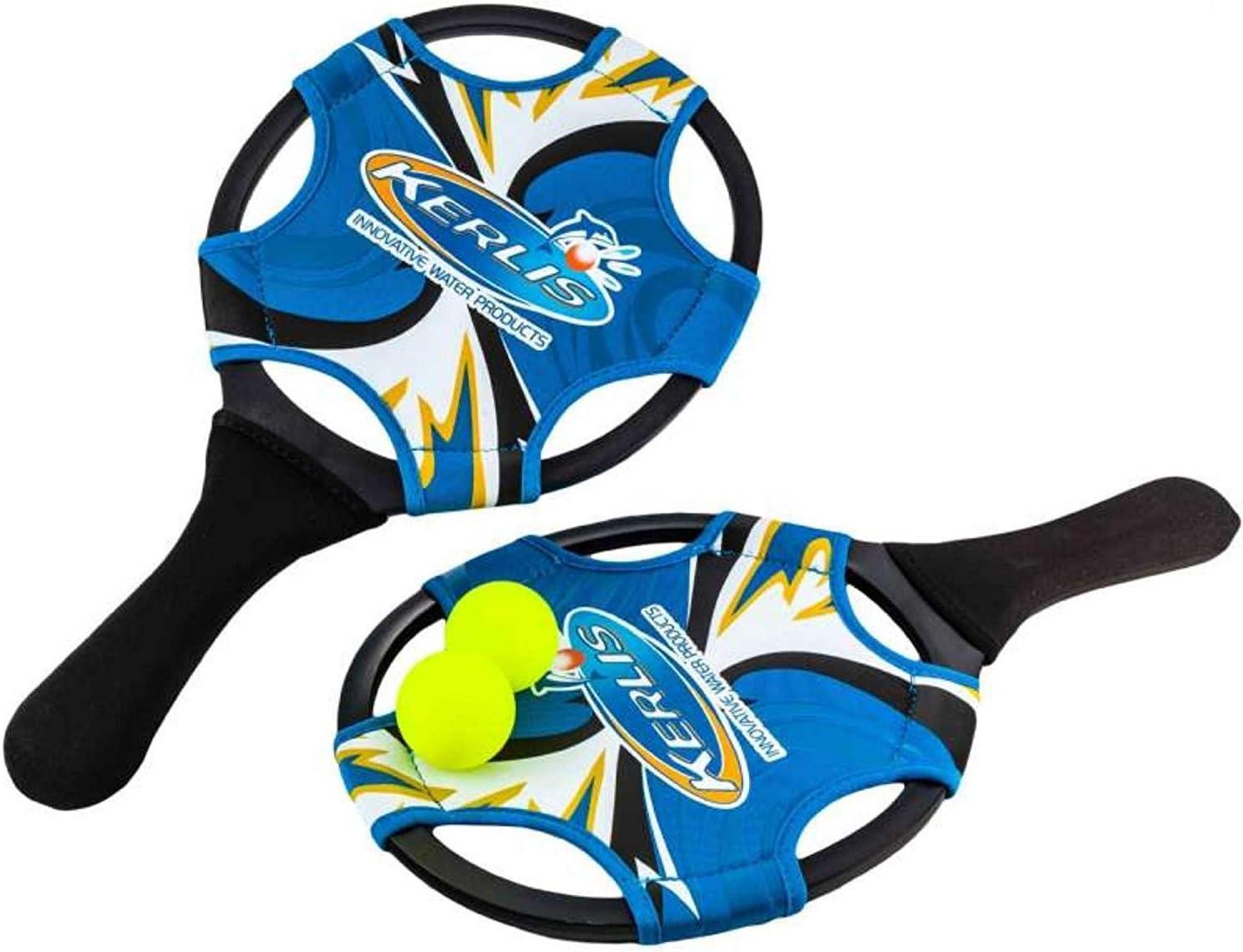 Juego de raquetas neopreno azul + 2 pelotas: Amazon.es: Jardín