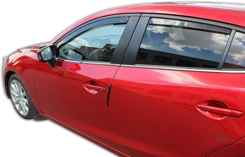 J/&J AUTOMOTIVE Windabweiser Regenabweiser f/ür Mazda 3 ab 2013 4//5-t/ürer 4tlg HEKO dunkel