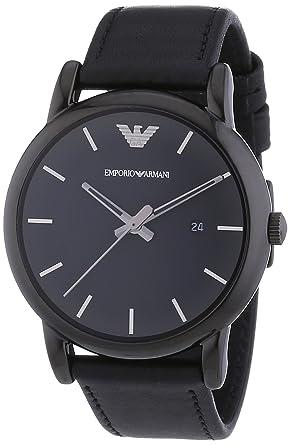 Emporio Armani AR1732 - Reloj (Reloj de pulsera, Masculino, Acero inoxidable, Negro
