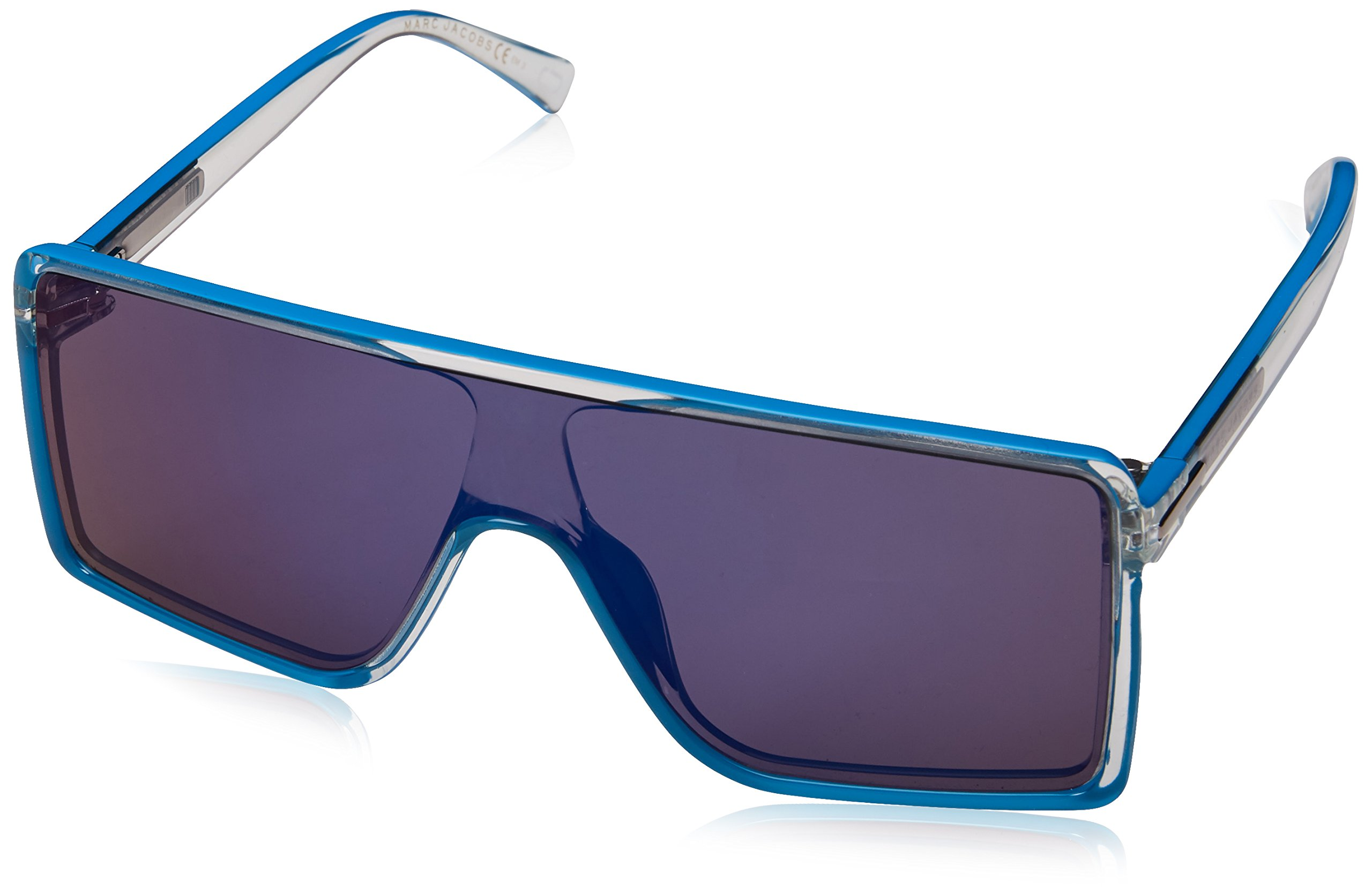 Marc Jacobs Marc220s Rectangular Sunglasses, Cry Azure, 99 mm