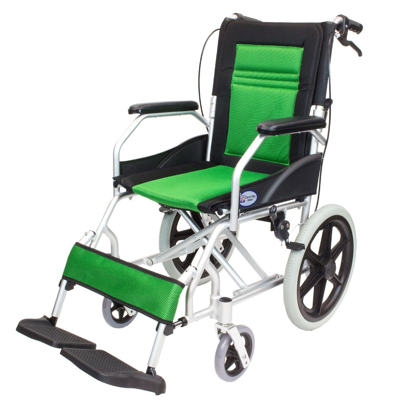 ケアテックジャパン 介助式車椅子 CA-22SU ハピネスライト -介助式- (グリーン) B01MZF30SM グリーン グリーン