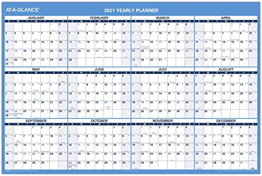 Amazon.: 2021 Erasable Calendar, Dry Erase Wall Planner by AT