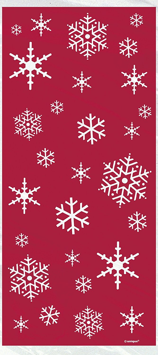 Unique Party Cellophane Sparkle Tree Christmas Party Bags, Pack of 20 44501