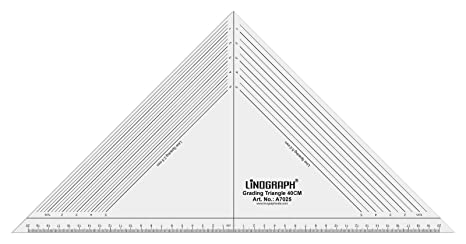 Amazoncom Linograph Acrylic Grading Triangle 40 Cm Ruler With