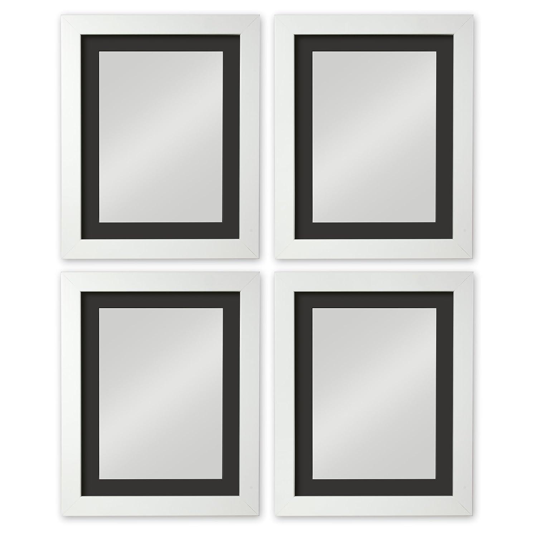 Noah Rahmen Collection - plastik - White 4 Piece Set w-Black Mount - 36x24 for image 30x20
