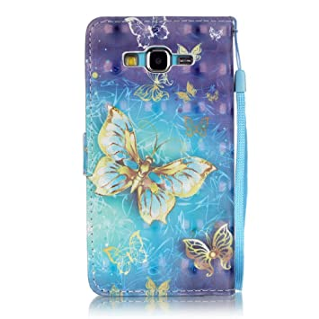 G530 Case, Galaxy Grand Prime Case, Firefish Stand Flip Folio Wallet Cover Shock Resistance Shell with Magnetic Closure for Samsung Galaxy Grand Prime ...