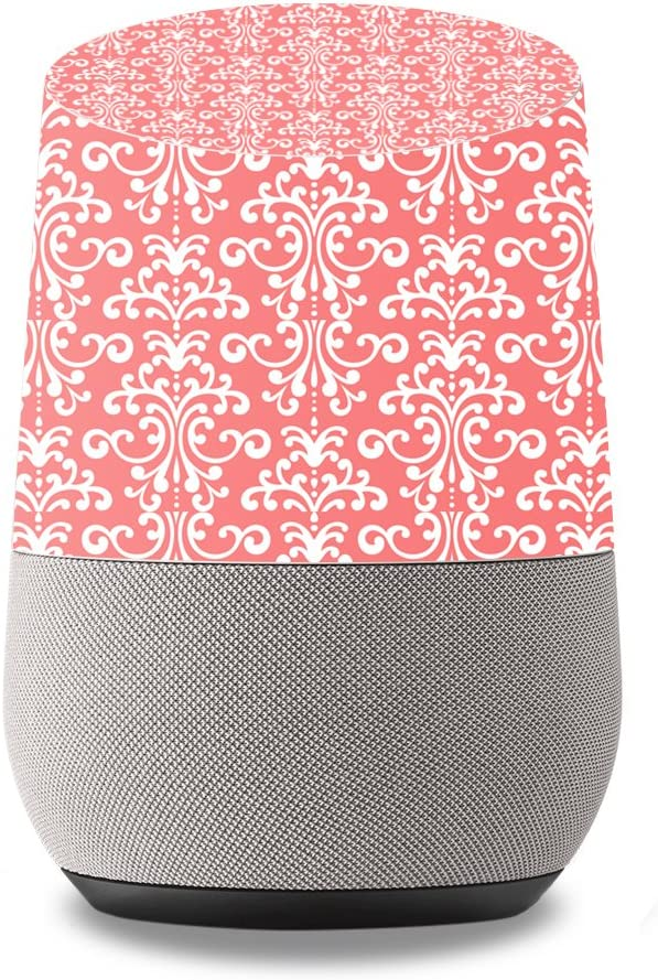 MightySkins Skin Compatible with Google Home wrap Cover Sticker Skins Coral Damask