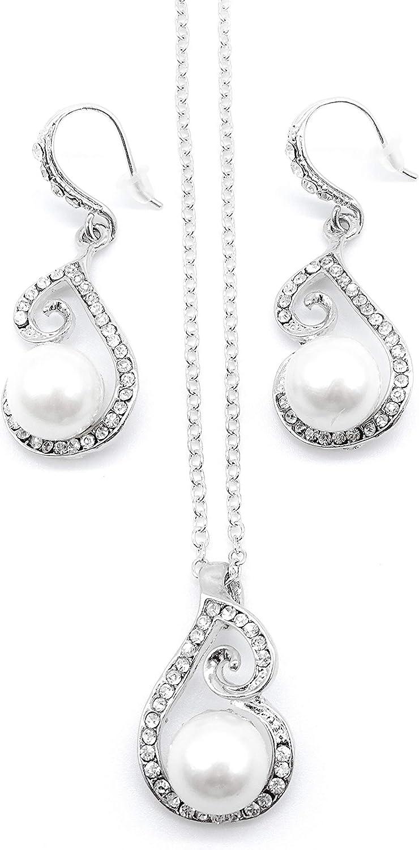 irresistible1 - Juego de Collar y Pendientes Hechos a Mano con Piedras Preciosas Transparentes y Cadena de Plata de 40 cm de Largo + 7 cm de Largo