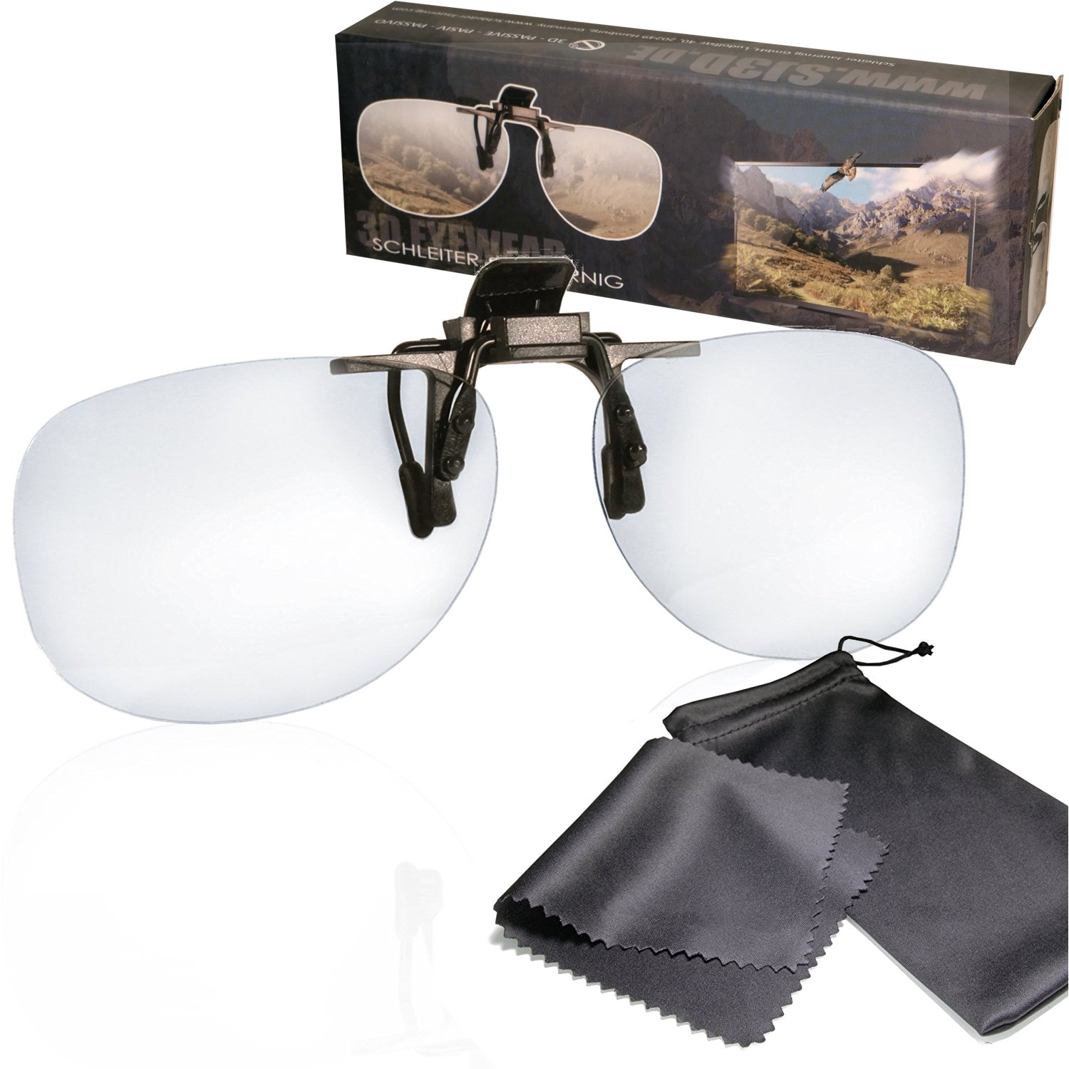 4b47083f26 3D clip on glasses - for RealD cinema use and passive 3D TVs such as LG