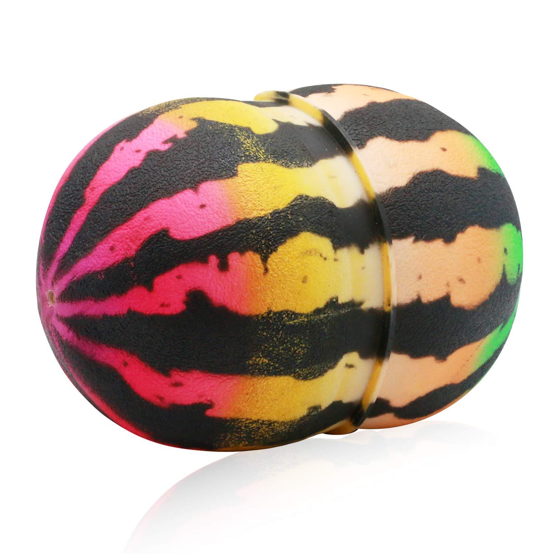 ZYAQ Pogo Ball with Pump Jump Trick Hopper Bounce Watermelon Ball for Kids Adults Pink