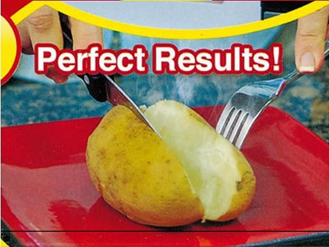 Bolsa para Patatas en Microondas bolsa de patatas EXPRESS horno Baked Potato bolsa 4 minutos rápido lavable a COOK, reutilizable, pack de 2 medium