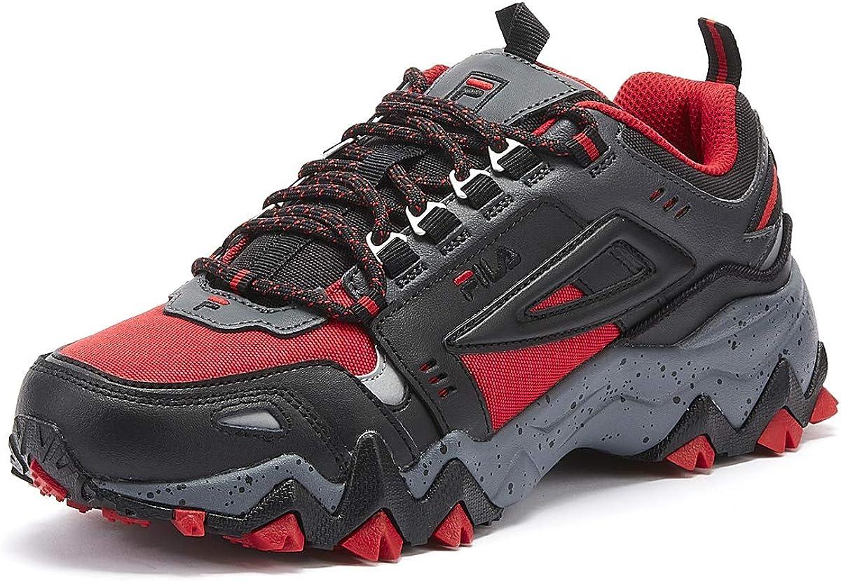 Fila Oakmont Trail Baskets Rouges Noir Pour Hommes