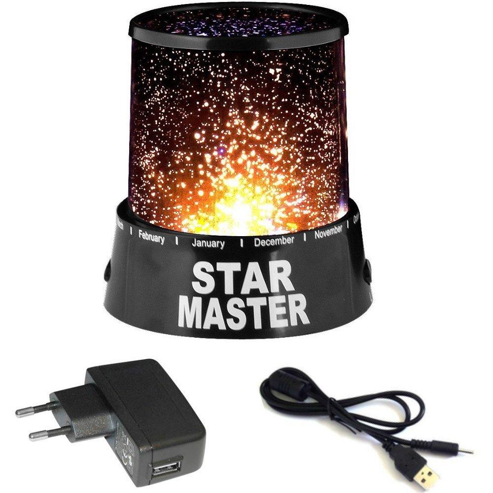 Dobo® - Proyector led de mesa, infantil, con efecto de cielo estrellado y constelaciones Star Master 16578-80pz