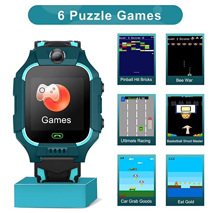 YENISEY Smart Watches for Boys Smart Watch, Kid Phone Watch with Smart Camera 1.54 inch HD Touch Screen SOS Games Watchs, Kids Tracker Watch Android ...