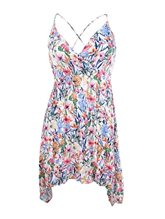 9e74c80c6ed18 Image Unavailable. Image not available for. Color  Lucky Brand Women s Lucky  Garden Tank Dress Swim Cover ...