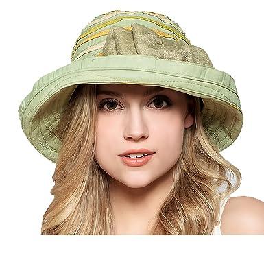 Maitose Trade  Womens Big Bow Wide Brim Church Beach Sun Hat Green ... 637293cd5a9f