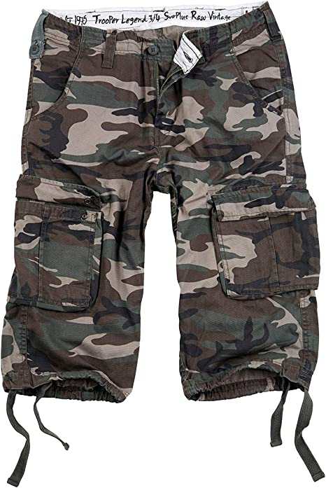 TALLA S. Surplus - Pantalón corto 3/4 Trooper Legend