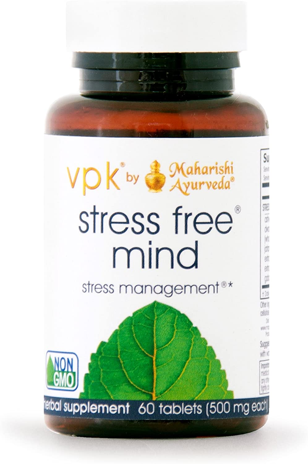 Stress Free Mind 60 Herbal Tablets – 500 mg ea. Natural Resistance to Daily Mental Stress Fatigue Maintain Mental Calm Alertness
