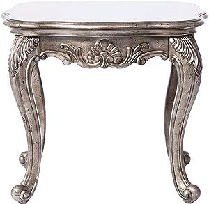 ACME Furniture 80541 Chantelle End Table, Antique Platinum