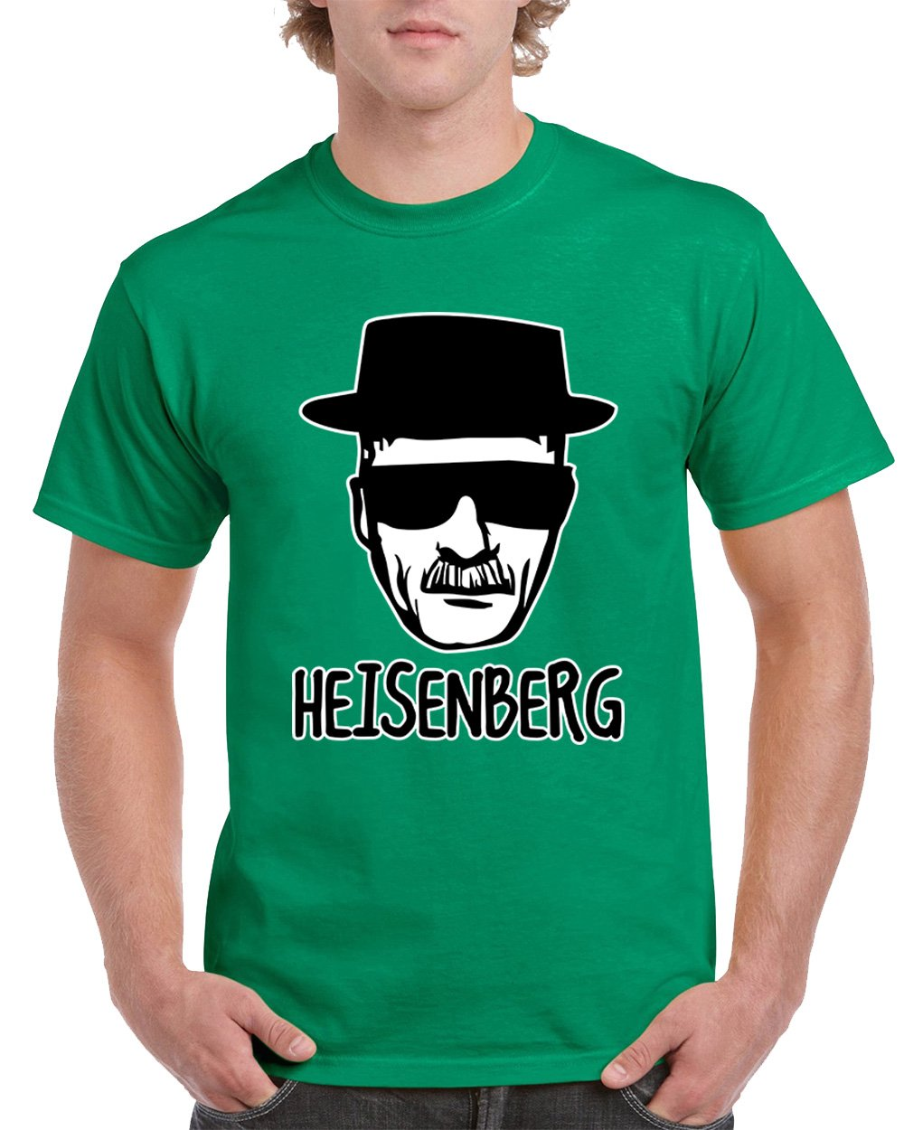 Heisenberg Breaking Bad Character Men's T-Shirts Round NeckTee Shirts for Men(Green,Small)